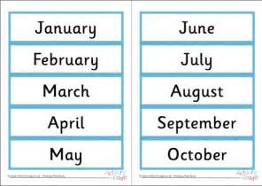 Calendar Of This Month Month Word Cards