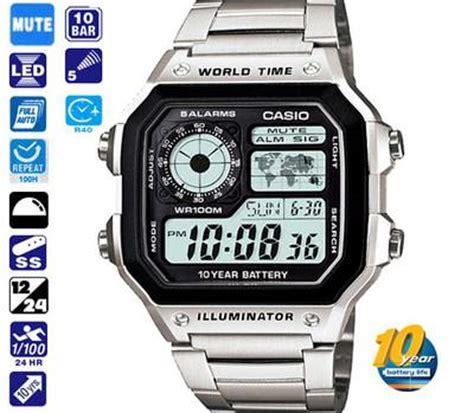 Casio Ltp 1208d 1bdf Original foto casio reloj original ae 1200whd hombre mapa mundo