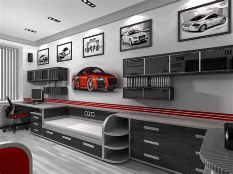 cars theme bedroom decorating a boys bedroom with a auto garage theme audi