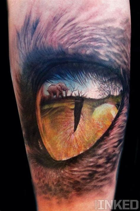 detailed elephant tattoo breathtaking painted very detailed tigers eye with