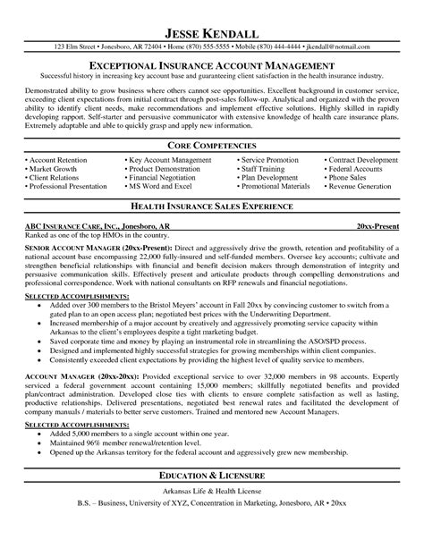 100 resume format for insurance sales manager sle
