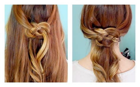 knot hair styles how to celtic knot half updo and ponytail youtube