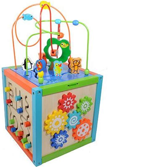 activities maze and toys on