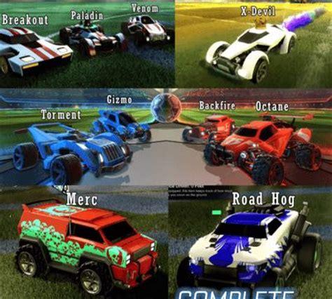Car Types In Rocket League by Rocket League Cosmetics Unlocks List Rocket League