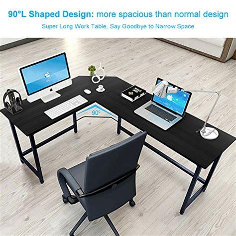 modern computer desk l shape office corner black laptop tribesigns modern l shaped desk corner computer desk pc
