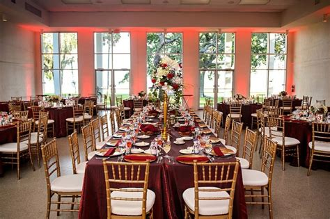 red burgundy gold  ivory spanish villa themed wedding
