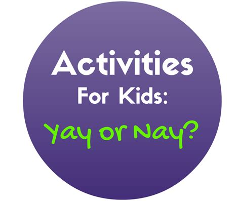 Yay Or Nay by Activities For Yay Or Nay