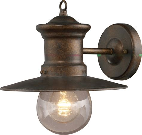 Outdoor Wall Sconce Lighting Fixtures elk lighting 42005 1 maritime exterior wall sconce