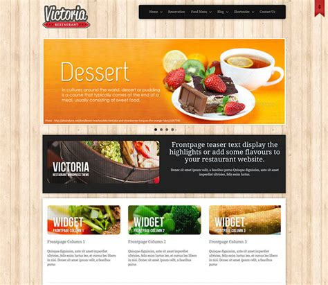 25 Best Html Website Templates For Cafe Bar Restaurant Web Graphic Design Bashooka Restaurant Website Template