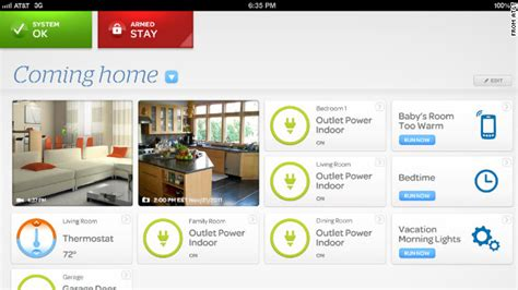 at t expands into wireless home security automation cnn
