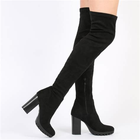 look trendy with thigh high boots acetshirt