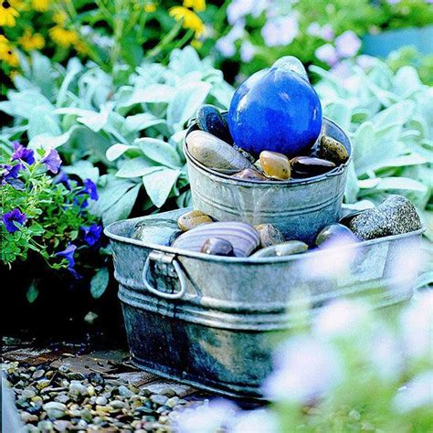 creative diy water features   garden