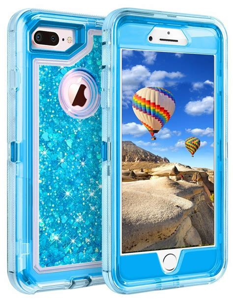 iphone    shockproof armor glitter case fits