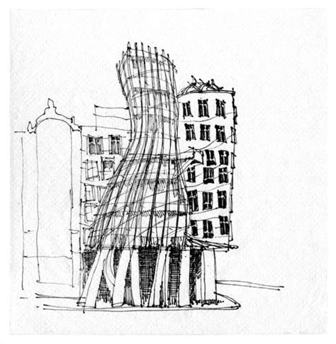frank gehry sketches house dancing house prague frank