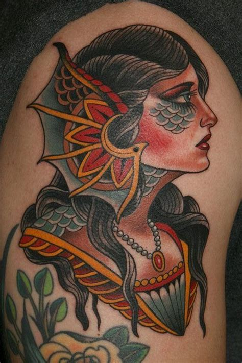 traditional mermaid tattoo 30 traditional mermaid tattoos ideas