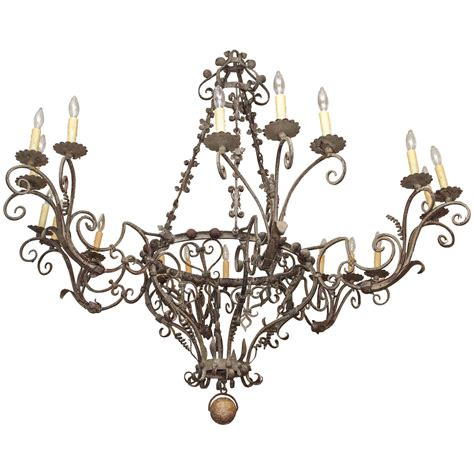 Tuscan Chandeliers Exceptional Tuscan Hand Wrought Iron Chandelier With