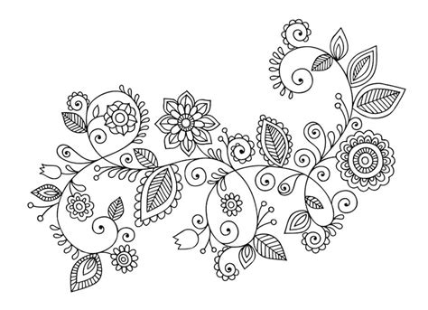 doodle of flowers flower doodles doodle coloring pages