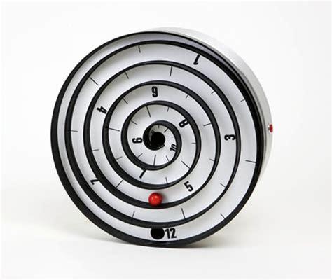 spiral clock face cool stuff pinterest black clock design