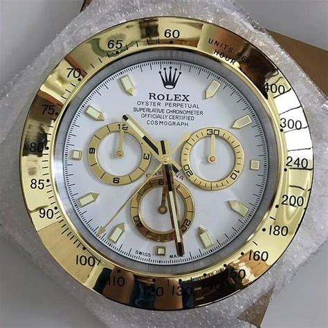 Rolex Wall Clock 2 rolex wall clock gold white furniture home decor on carousell
