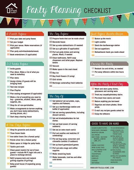 printable party planning list printable party planning checklist