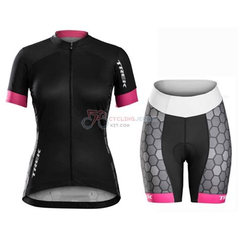Jersey Trek Black trek cycling jersey kit sleeve 2016 black and