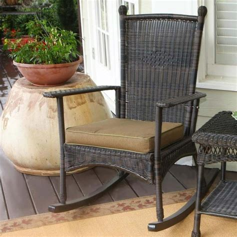 White Wicker Rocking Chair Outdoor by Tortuga Outdoor Portside Classic Wicker Rocking Chair