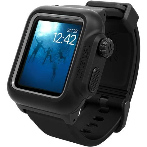 Catalyst Waterproof For Apple 42mm Original Stealth Black catalyst waterproof for 42mm apple cat42wat2blk b h