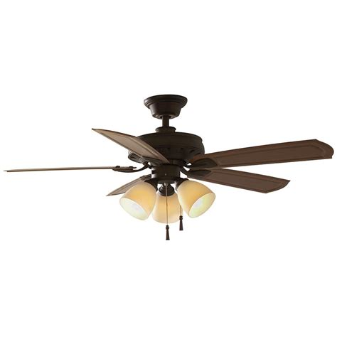 48 ceiling fan with light hton bay tucson 48 in indoor outdoor rubbed bronze