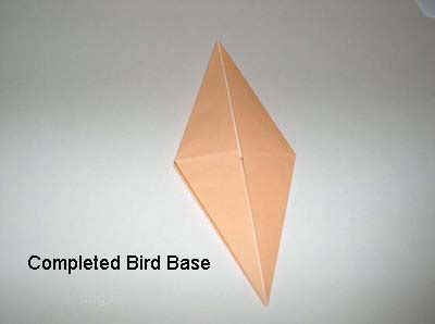 Bird Base Origami - origami a meaningful use of all your leftover paper