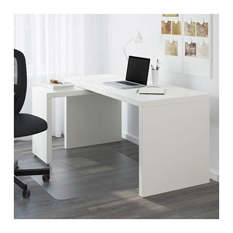 ikea buro wit malm desk with pull out panel white 151x65 cm ikea