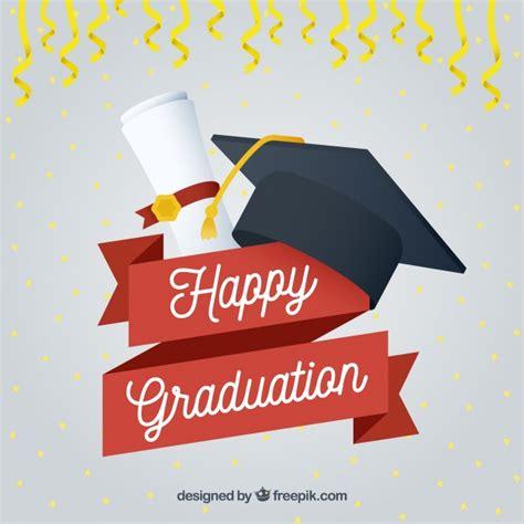 imagenes feliz graduacion fondo de feliz graduaci 243 n con birrete y diploma