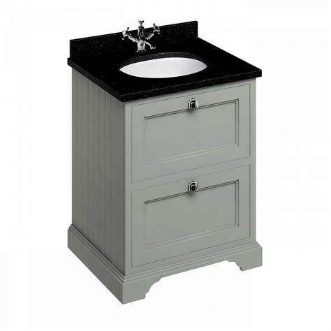Vanity Units Uk by Burlington 65 Freestanding Vanity Unit With Two Drawers