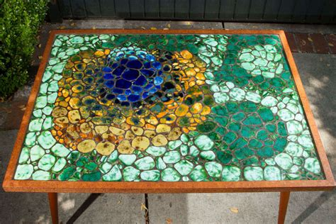Mosaic Tile Coffee Table Mosaic Tile Top Coffee Table At 1stdibs