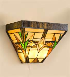 Stained Glass Wall Sconces stained glass wireless wall sconce arts crafts design ls lighting
