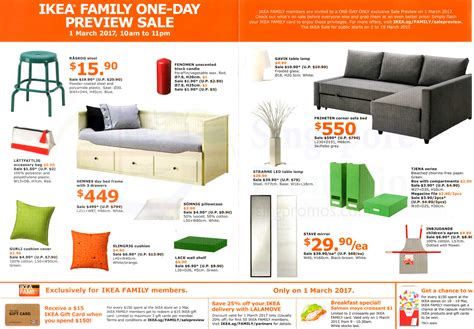 when does ikea sales ikea sale preview for family members free membership on 1 mar 2017