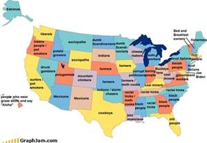 us map joke stereotypes of the usa unfortunately for some this