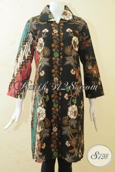 Kain Batik Print Modern Parang Bunga busana batik parang bunga desain mewah pakaian batik blus