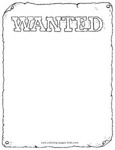 free wanted poster template printable cowboy color page coloring pages for