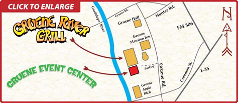 map of gruene texas gruene event center