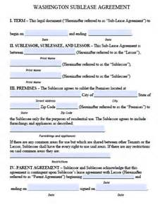 free washington sublease agreement pdf template