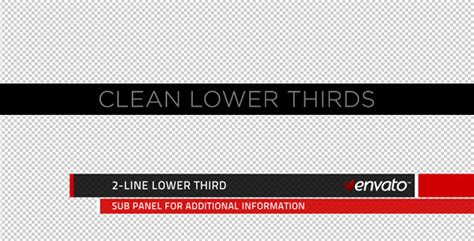 Clean Lower Thirds By Motionrevolver Videohive Lower Third Templates Photoshop