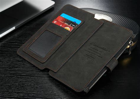 Iphone 6s Plus Leather Black 2 for iphone 5 6s 7 plus genuine leather cover zipper wallet multifunction ebay