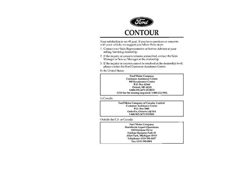 automotive service manuals 1996 ford contour electronic toll collection 1998 ford contour owner s manual car maintenance tips