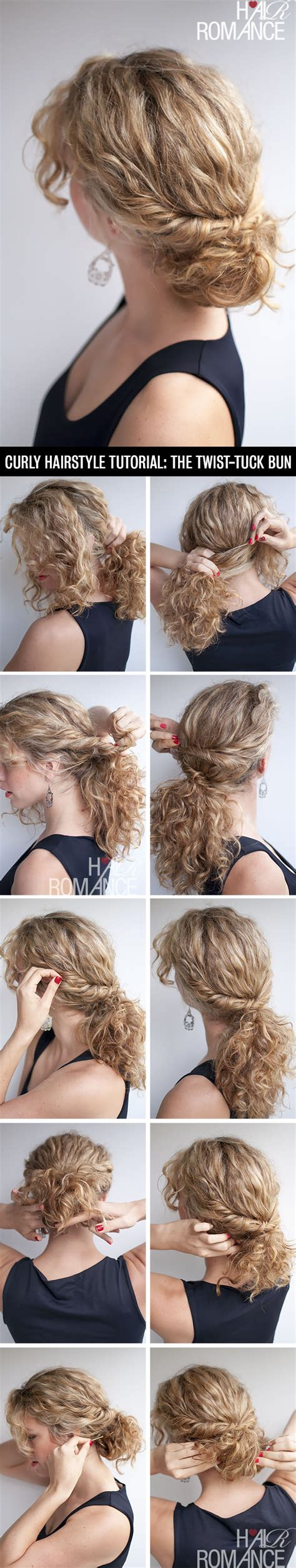 how to style natural curly hair step by step curly hairstyle tutorial the twist tuck bun hair romance