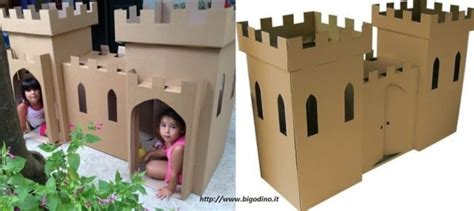 come costruire una casa di cartone come fare una casetta di cartone per bambini non sprecare