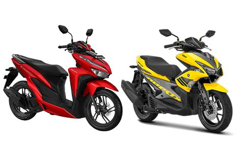 New Honda Vario komparasi all new honda vario 150 dan yamaha aerox 155