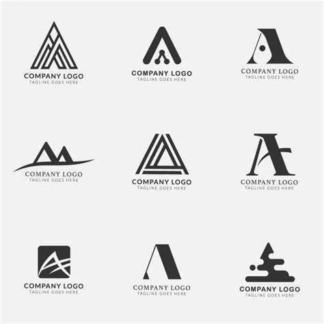 logo lettere logos with the letter a collection vector free