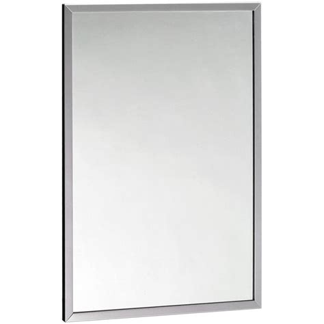 Suction Bathroom Mirror Bobrick B 165 4836 48 Quot X 36 Quot Wall Mounted Mirror With