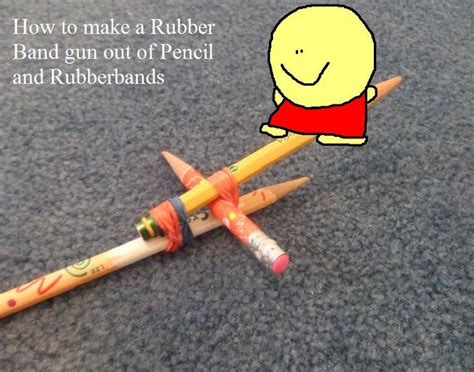 how to make a rubberband gun out of pencil and rubberbands