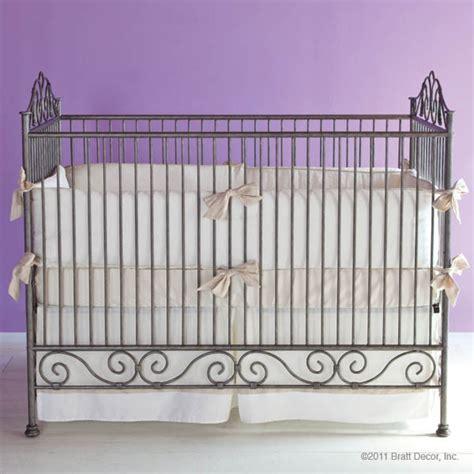 Bratt Decor Crib by Casablanca Iron Crib In Pewter By Bratt Decor